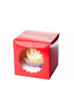 01 Cupcakes Schachtel 10er Set rot