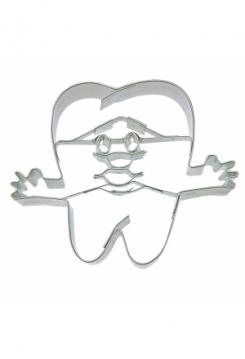 Zahn mit Gesicht 7cm Edelstahl