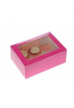 06 Cupcakes Schachtel pink 10er Set