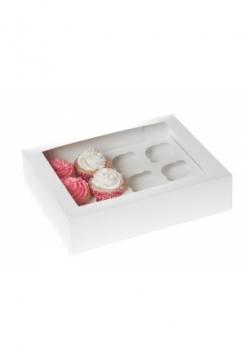 12 Cupcakes Schachtel 10er Set weiss