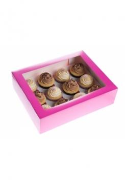 12 Cupcakes Schachtel 05er Set Pink