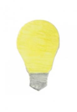 Glühbirne 8cm Edelstahl