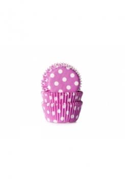Muffin pink mit Punkten Maxi 500 Stk.