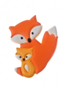 Fuchspaar 9cm Edelstahl