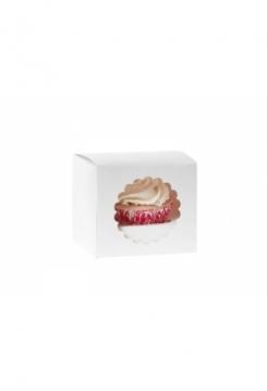 01 Cupcakes Schachtel weiss 05er Set