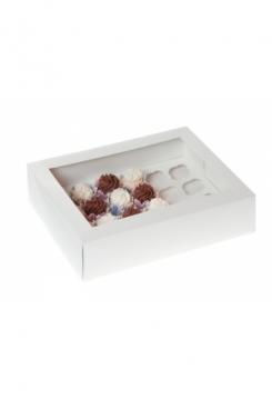 24 Cupcakes Schachtel MINI 5er Set weiss