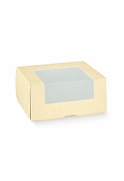Tortenschachtel 25cm 5er Set crema