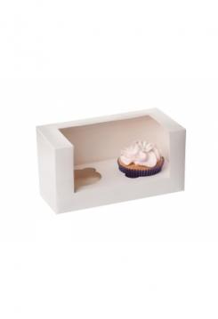 02 Cupcakes Schachtel 10er Set weiss