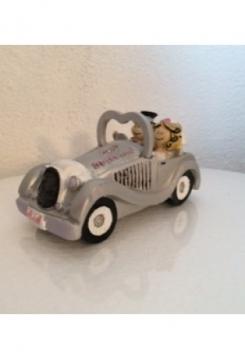 Hochzeitsauto mit Brautpaar 9cm