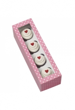 4 Cupcakes Schachtel MINI 4er Set