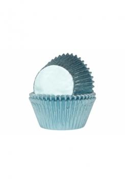 Muffin GLANZ Baby blau Maxi 24 Stk.
