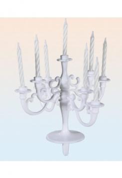Kronleuchter weiss Kerzen weiss