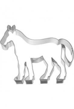 Pferd Edelstahl 11x 9,5cm