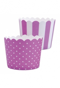 CupCake violett-weiss 12 Stk.