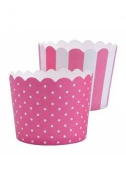 CupCake pink-weiss 12 Stk.