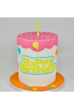 Happy Birthday Schriftzug 6x15cm
