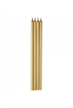 Kerzen gold lang 14cm 12 Stück