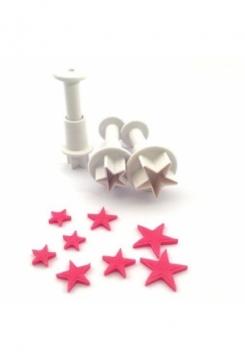 Sterne Mini mit Auswerfer 3 Stk.