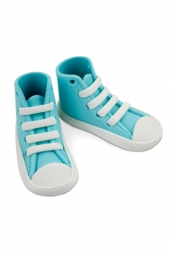Baby Schuhe aus Zucker hellblau