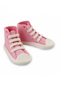 Baby Schuhe aus Zucker rosa