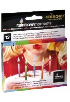 Rainbow moments Kerzen 12 Stück