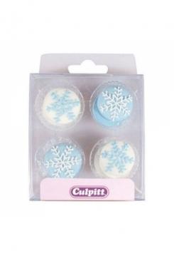 Zucker Xmas Snowflakes blau/weiss 12 S..