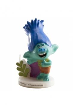 Trolls Branch blau Kerze