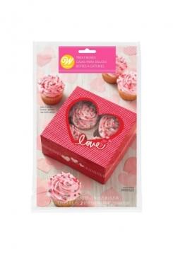 Muffinbox 4er Valentine 2 Set