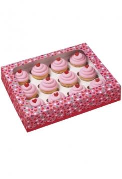 12 Cupcakes Schachtel Herzli MINI 3er ..