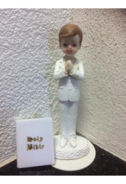 Junge betend ca. 13,5cm mit Bibel