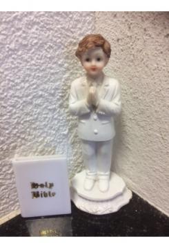 Junge betend ca. 12cm mit Bibel