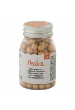 Perlen gold gross 100g