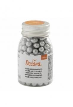Perlen silver gross 100g