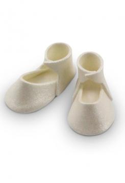 Baby Schuhe aus Zucker pearl