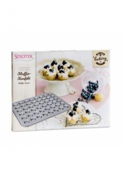 Mini Muffin Konfekt silber 40x31cm