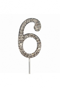 Cake Topper Diamant Nr.6