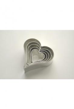 Herzen 5er Set 2-6cm