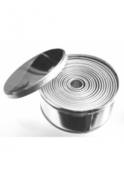 Ringe glatt HOCH 15 teilig 1,5-10cm