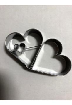 Linzer Herz seitlich 2 teilig 4,5cm