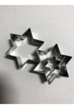 Linzer Stern mit Stern 2 teilig 3,8x4,..
