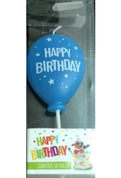 Ballon blau Happy Birthday