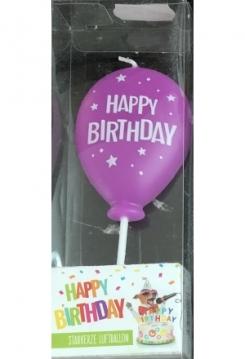 Ballon violett Happy Birthday