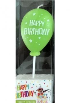 Ballon hellgrün Happy Birthday