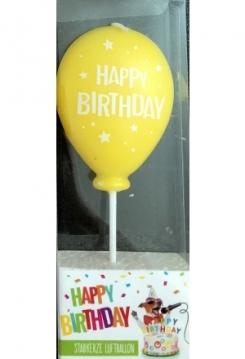 Ballon gelb Happy Birthday