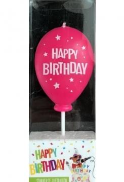 Ballon pink Happy Birthday