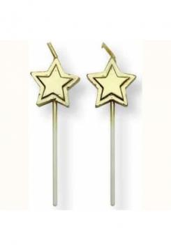 Sterne gold Kerzen 8 Stk