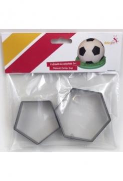 Fussball Ausstecher Set 2 teilig