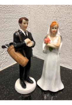 Golfer Brautpaar