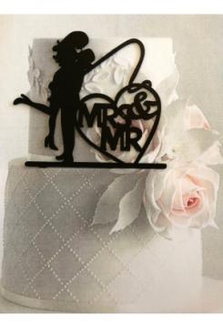 Acryl Hochzeitspaar Mr.Mrs.