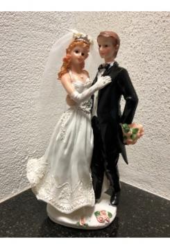 Brautpaar umarmend 22x12cm